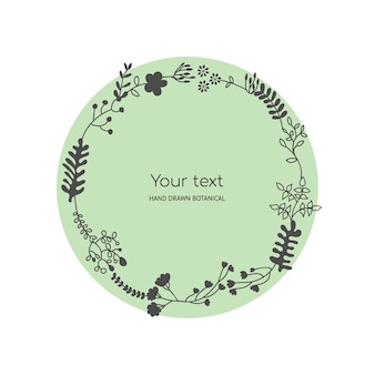 Romantic floral frame of leaves