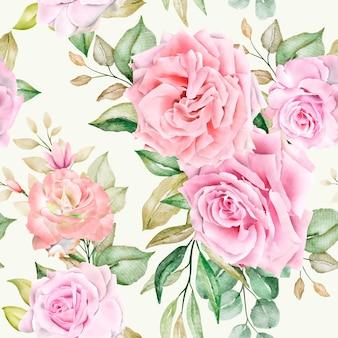 ロマンチックな花のシームレスなパターン