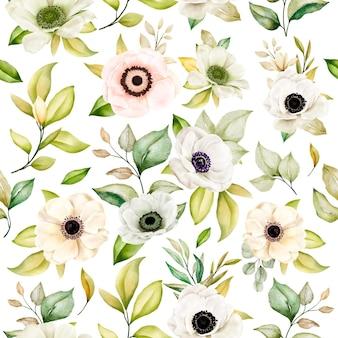 로맨틱 꽃 원활한 패턴