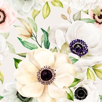 ロマンチックな花柄のシームレスなパターン