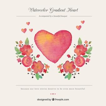 Romantici acquerelli floreali