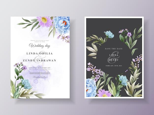 Романтическое цветочное свадебное приглашение