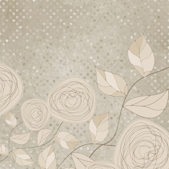 빈티지 장미와 로맨틱 꽃.