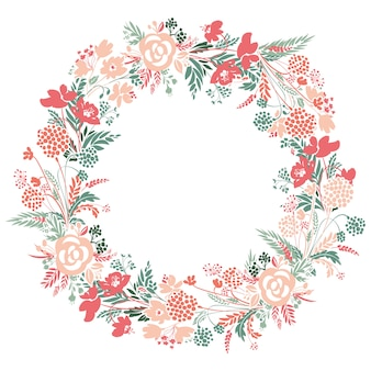 Romantic floral wreath.