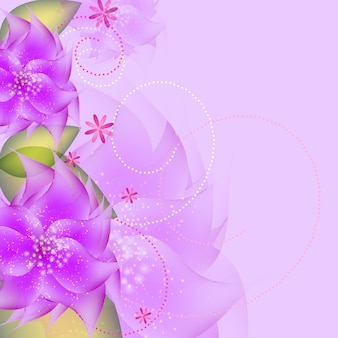 Romantic flower vector background