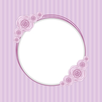 ロマンチックな花ヴィンテージ招待カードの背景。