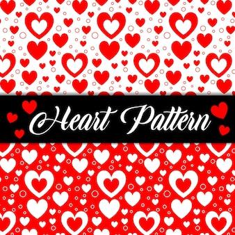 ロマンチックな心バレンタインテクスチャシームレスパターン