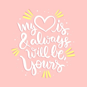 Romantic lettering forvalentine's day