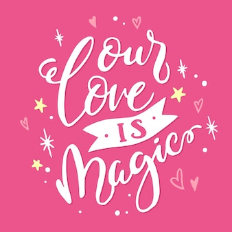 Romantic lettering