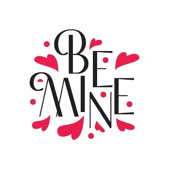 Romantic love typographic lettering art in free vector