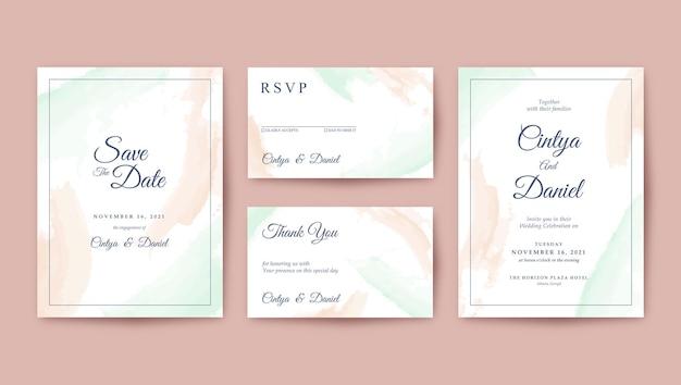 Романтический минималистичный шаблон свадебного приглашения