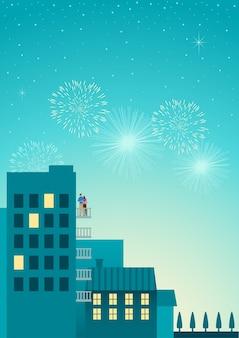 Romantic new year night