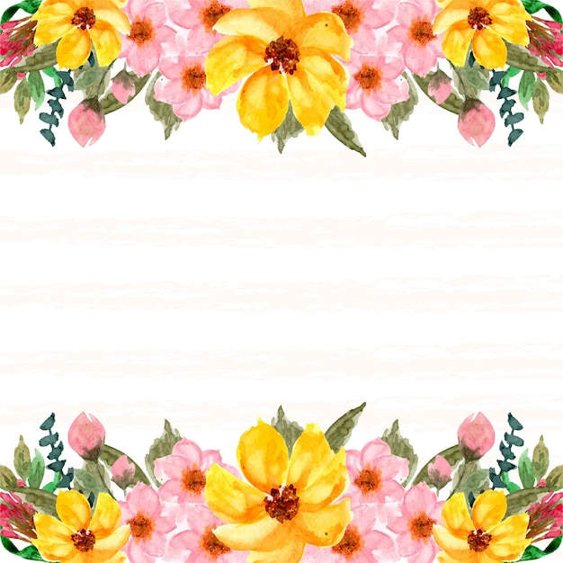 Romantic pink and yellow floral background
