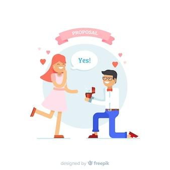 Romantic proposal concept