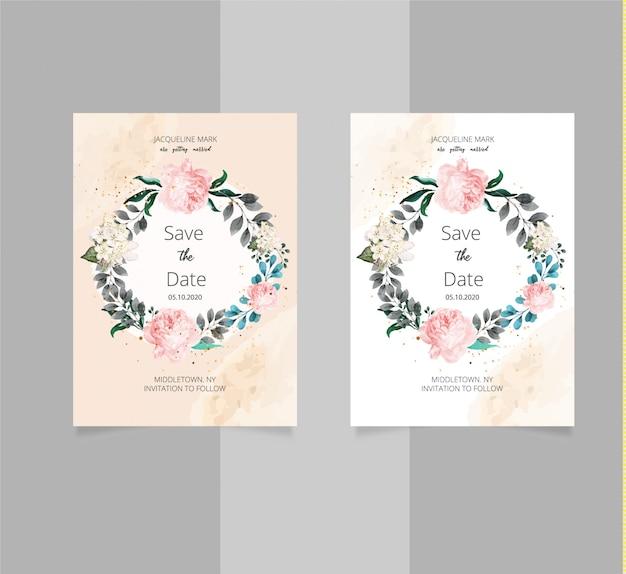 Romantic save date invitation template