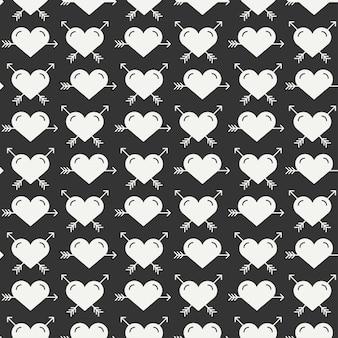 Романтический бесшовные модели с сердцем.