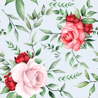 Romantic seamless pattern with maroon flower