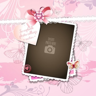 A romantic setting on a pink background