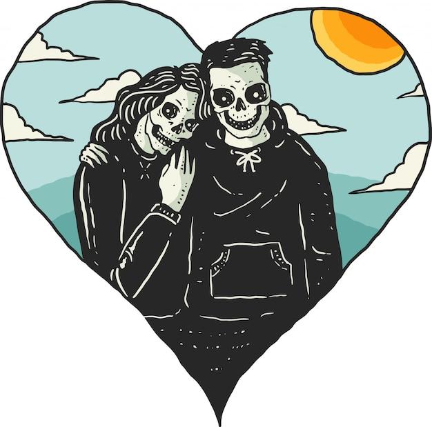 Romantic skeleton date