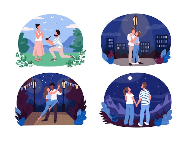 Romantic summer recreation web banner