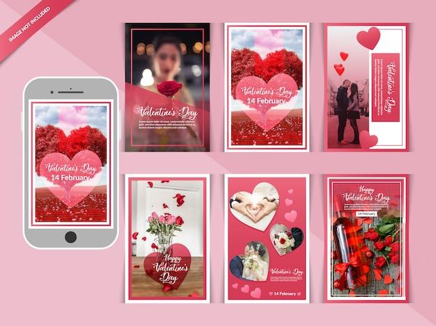 Romantic valentine day instagram post