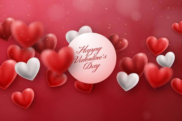 ロマンチックなバレンタインデーの背景
