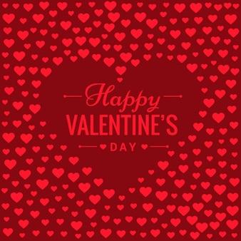赤いハートでロマンチックなバレンタインデーの背景