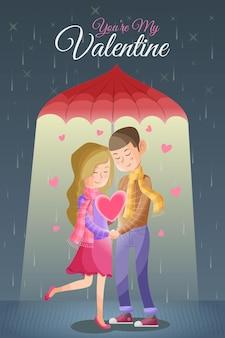 Романтический день святого валентина пары мультфильм
