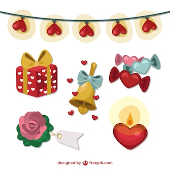 Романтический день святого валентина элементы