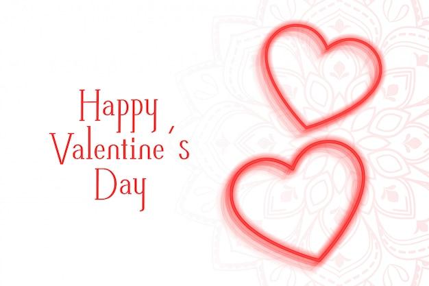 Романтическая открытка с двумя сердцами