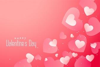 ロマンチックなバレンタインデーの心の素敵な背景