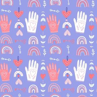 Romantic valentines seamless pattern
