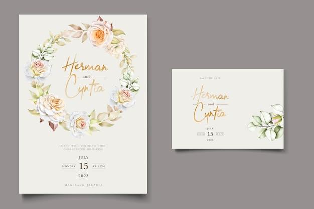 Романтическое свадебное приглашение с акварелью