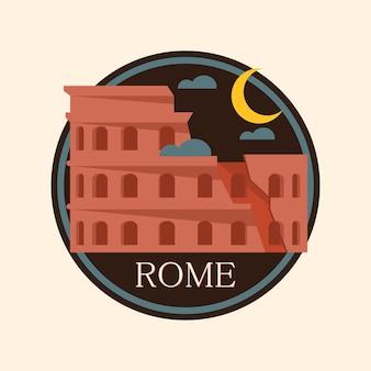 Rome city badge, italy