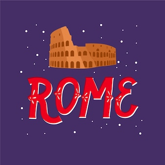 Надпись города рима