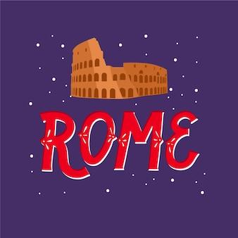 Rome  city lettering