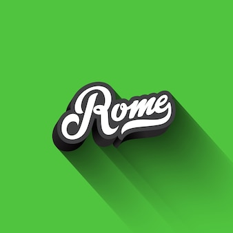 Rome text calligraphy vintage retro lettering  .