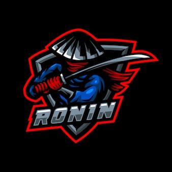 Roninマスコットロゴeスポーツゲーム