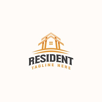 Roof house real estate modern concept logo template
