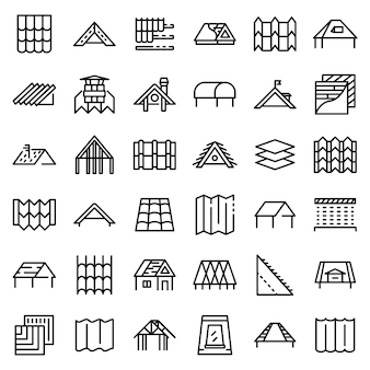 Roof icons set