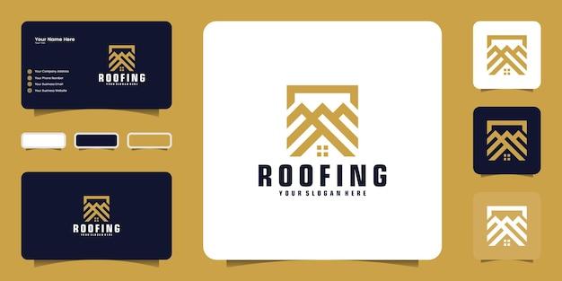 Вдохновение для дизайна логотипа на крыше, ремонта крыши и вдохновения для создания визитных карточек