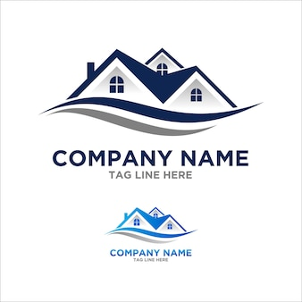 Roof logo element for contruction and real estate company