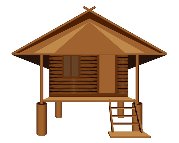 Roof straw hut