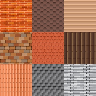 Roof tiles and roof texture set.