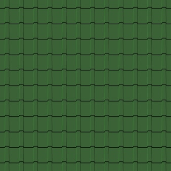 Roof tiles seamless pattern. green shingles profiles background. vector illustration.