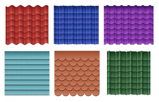 Roof tiles set