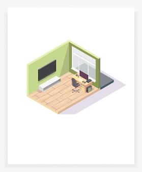 等角投影の部屋3d