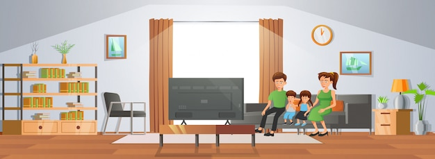 Room decoration of living room with gradient design