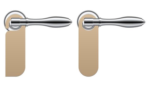 Ручка двери комнаты с иллюстрацией дверной вешалки