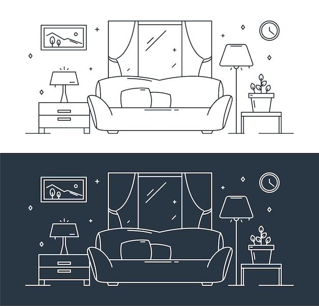 部屋の家具の概要